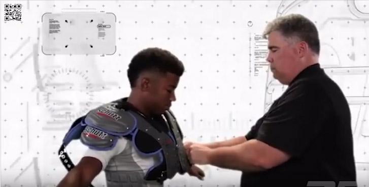 Como medir e verificar o tamanho do shoulder pad