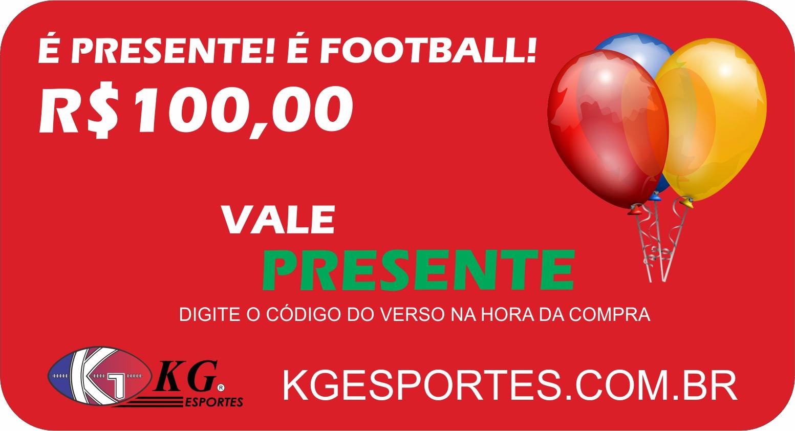 Vale-presente KG Esportes (R$ 100,00)