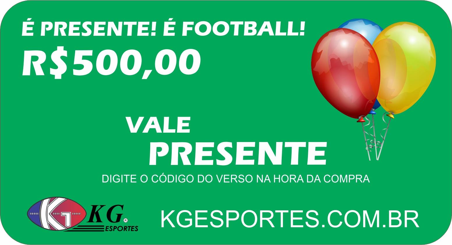 Vale-presente KG Esportes (R$ 500,00)