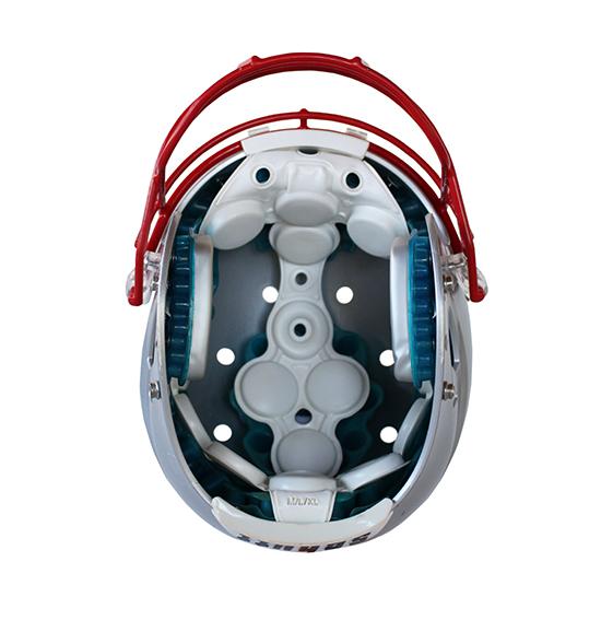 Capacete Seminovo SCHUTT AiR XP (XG) com faceguard ROPO titanium e chinstrap taça dura