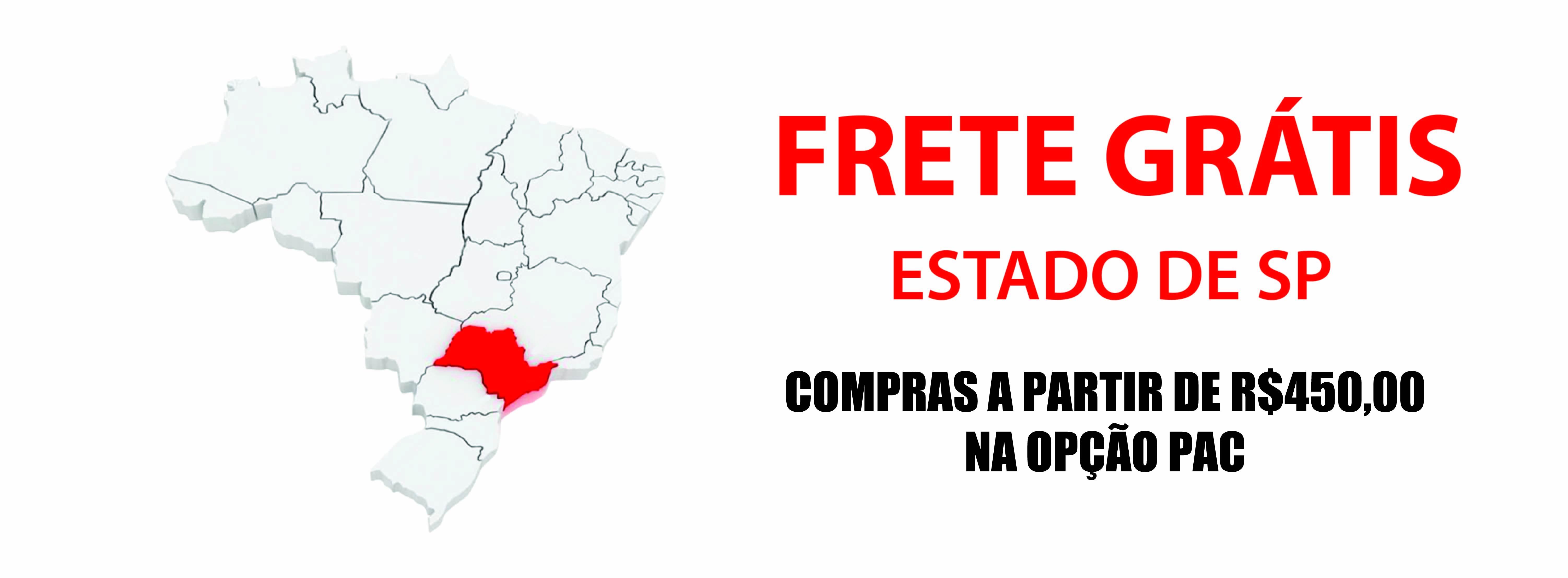 Frete gratis Estado de SP